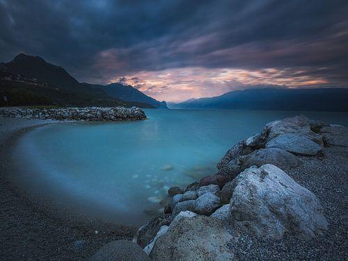 landschap van water en lucht van