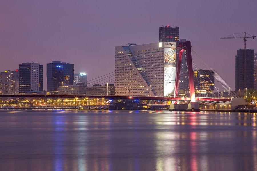 Willemsbrug en Willemswerf Rotterdam van Guido Akster