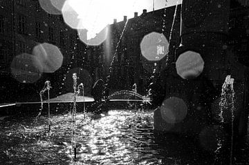 Kopenhagen  waterfontein waterdruppels  von Niels  de Vries