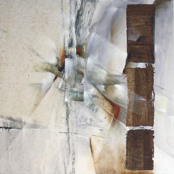 Abstrakte Komposition in weiß von Annette Schmucker