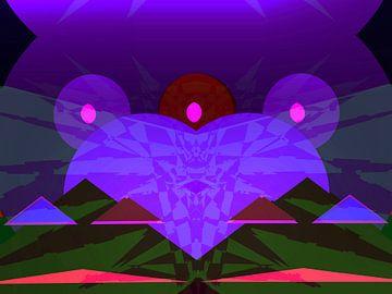Peace Frog blue van Judith Robben