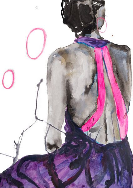 Vrouwen rug van Angela Peters