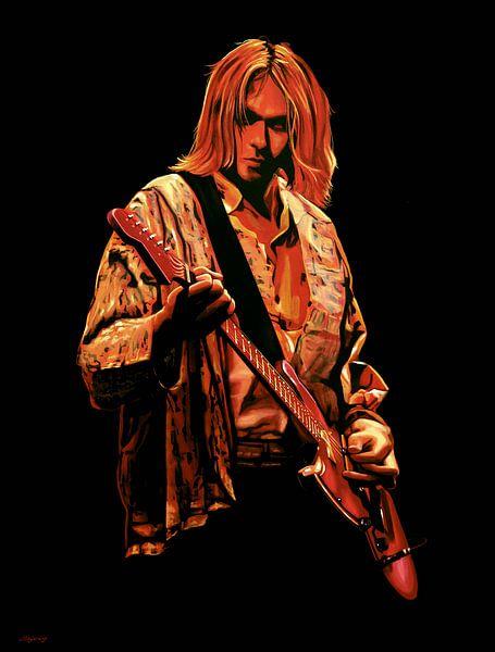 Kurt Cobain Nirvana Schilderij van Paul Meijering