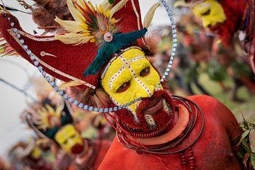 Huli Wigmen, Stamm, in Papua-Neuguinea von Milene van Arendonk