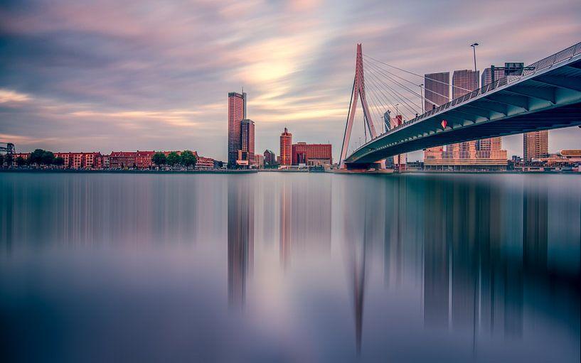 Skyline Rotterdam van Michiel Buijse