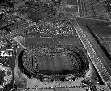 Rotterdam Feyenoord Stadion - De Kuip -1957 van Roel Dijkstra