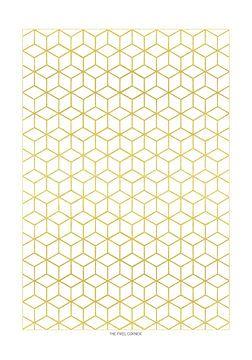 Goldenes Sechseck von The Pixel Corner