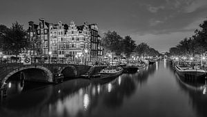 Amsterdam by Night in B&W