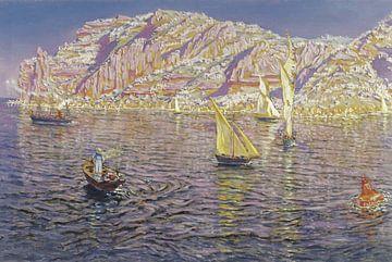 Antonio Muñoz Degrain~Meereslandschaft.Blick auf die Bucht von Palma de Mallorca