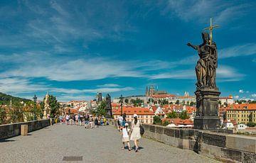 Karelsbrug, St Nicolaaskerk, Prag Praha, , Tsjechië, van Rene van der Meer