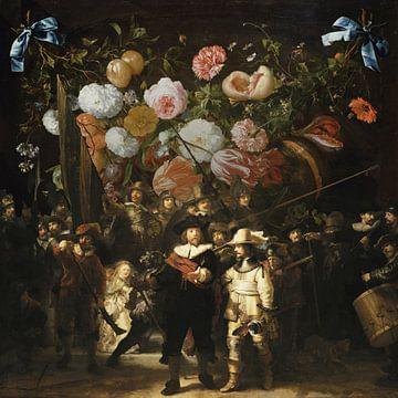 Nachtwacht x Bloemenkrans, Rembrandt en Jan Davidz de Heem