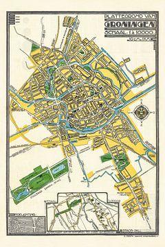 Plattegrond Groningen - 1920-1925