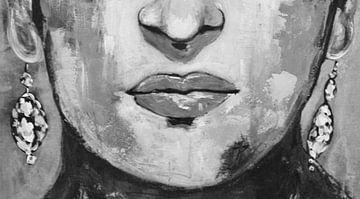 """Frida """"Mund"""" von Kathleen Artist Fine Art"""