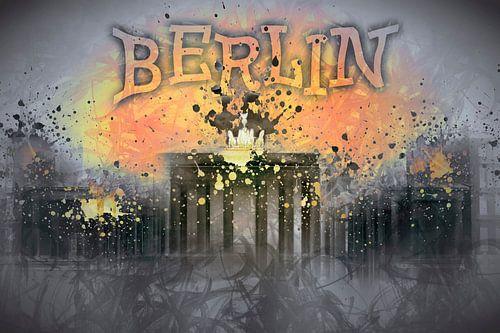 Digital-Art BERLIN Brandenburg Gate I van Melanie Viola