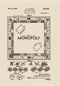 Patent 1935 MONOPOLY US von Jaap Ros