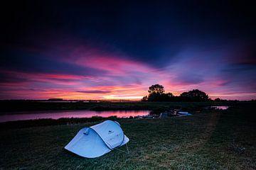 Sonnenuntergang im Biesbosch von Eddy Westdijk