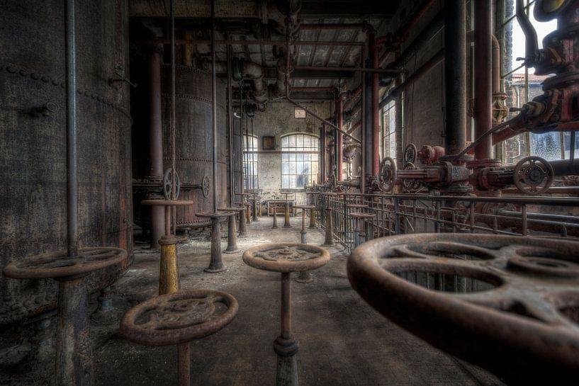 Steampunk factory van Steve Mestdagh