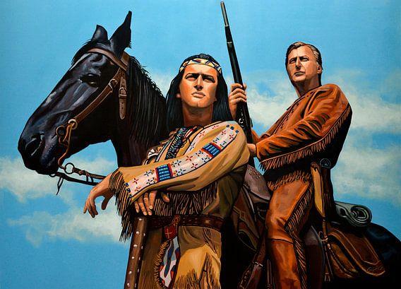 Winnetou Old Shatterhand schilderij van Paul Meijering