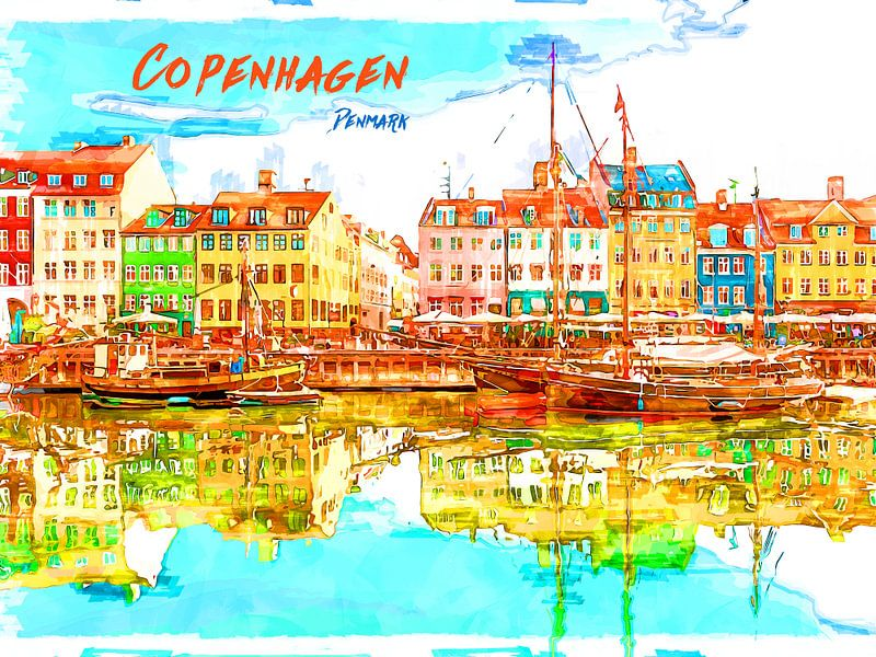 Kopenhagen von Printed Artings