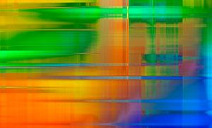 Neon Graphics landscape van