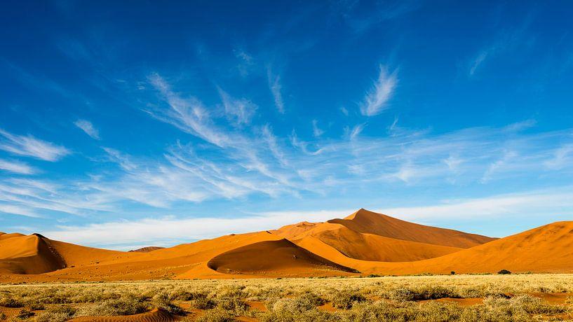 Luchtlandschap boven Namibisch duin van Theo Molenaar