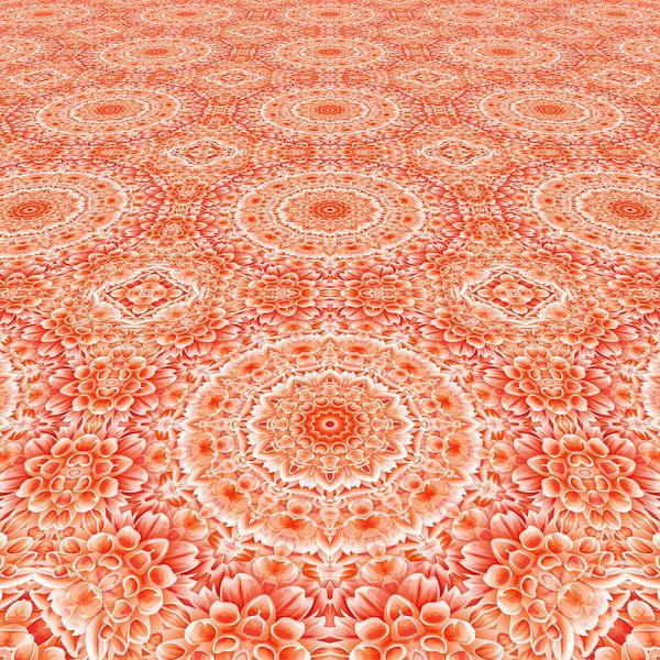 Mandala bloemen perspectief van Marion Tenbergen