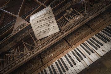 Klavier in einer verlassenen Villa von Wim van de Water