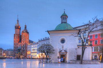 Marienkirche , Kleine Kirche  bei Abenddämmerung , Krakau, Polen, Europa