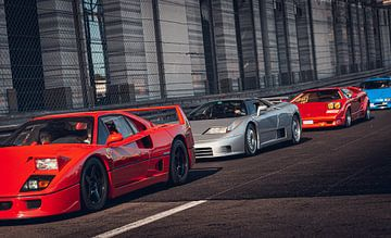 4 unieke klassieke supercars achter elkaar van Ricardo van de Bor