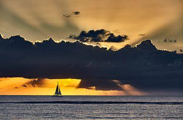 Varen in de zonsondergang van Graham Forrester