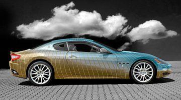 Maserati GranTurismo in blauw licht Kunstauto van aRi F. Huber