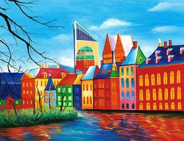 Den Haag Gemälde - Binnenhof von
