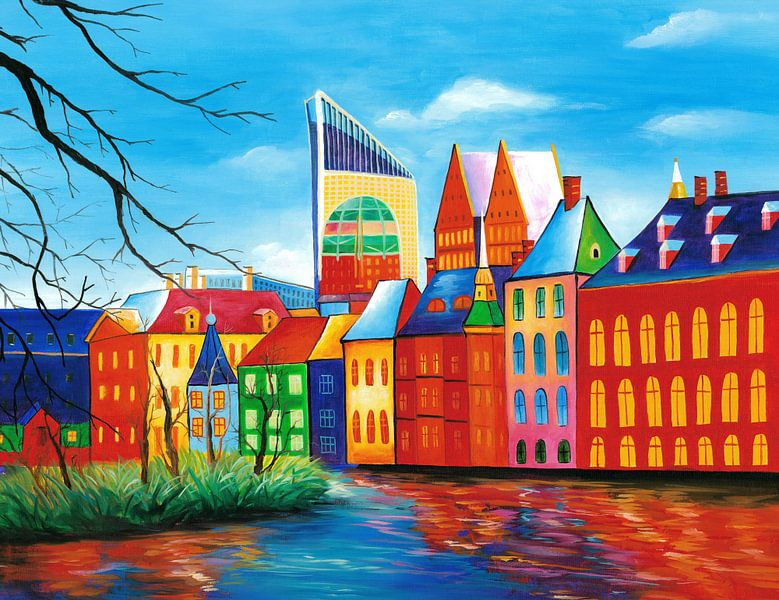 Den Haag schilderij - Binnenhof van Kunst Company