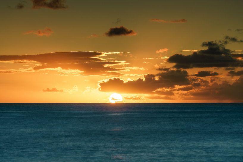 Honolulu Zonsondergang van road to aloha