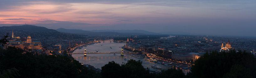 Boedapest panorama van Ruben Van der Sanden
