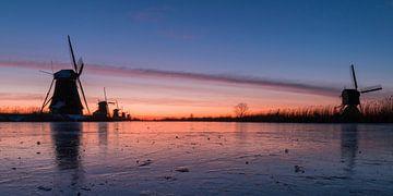 Kinderdijk winter 7 van Nuance Beeld