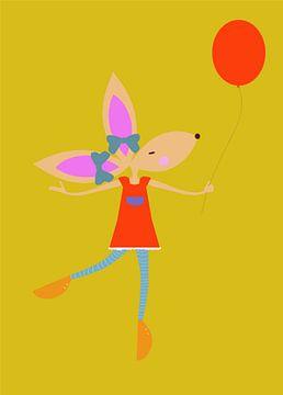 KONIJN met ballon van Ellis Busscher
