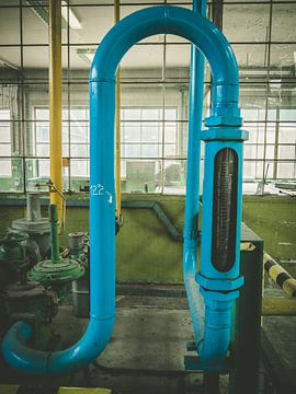 Tube bleu