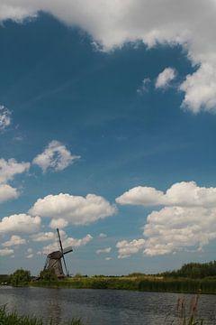 Windmühle im Holländischen Licht von Martijn Stoppels