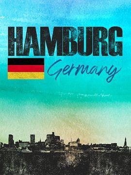 Hamburg Deutschland von Printed Artings