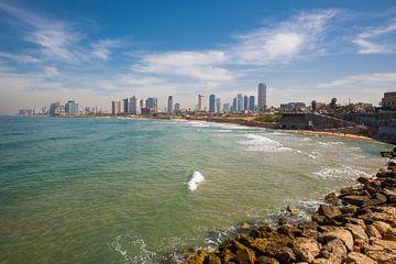 Tel Aviv skyline van Jack Koning