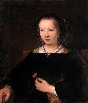 Jeune femme avec un oeillet, Willem Drost