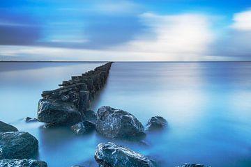 Wadden Meer nahe Holwerd, die Niederlande. von AGAMI Photo Agency
