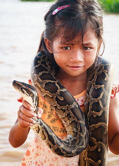 Meisje met boa constrictor
