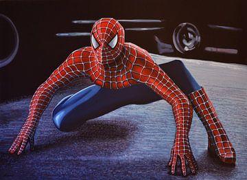 Spiderman schilderij 2 van Paul Meijering