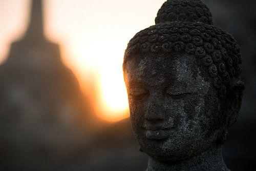 Borobudur bij zonsopkomst (Midden-Java, Indonesië) van Martijn Smeets