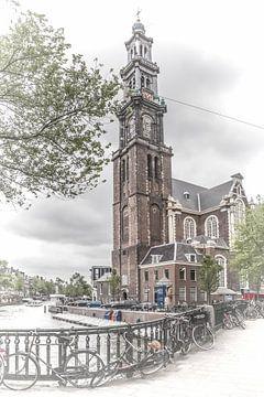 AMSTERDAM Westerkerk & Prince's Canal van Melanie Viola