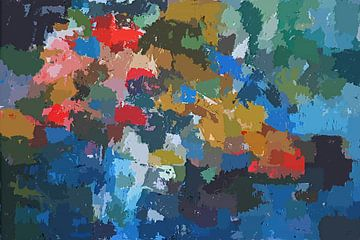 Impression abstraite de fleurs sur Paul Nieuwendijk