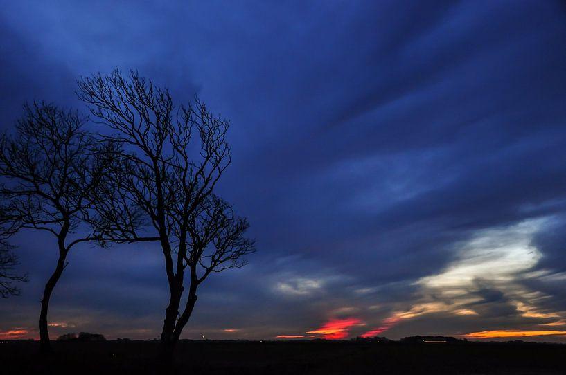 Dreigende lucht / Threatening sky van Henk de Boer