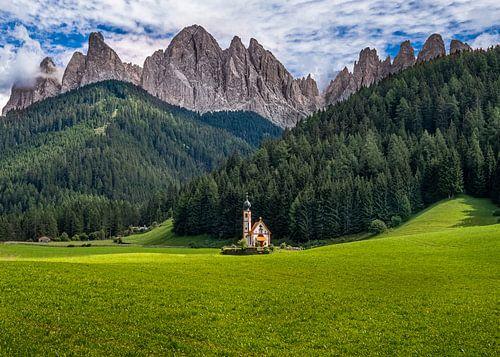St Johann Church Santa Maddalena in de Dolemieten, Italie
